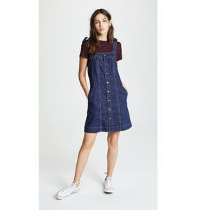 Madewell Denim Button Front Tank Dress 2